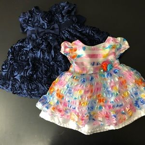 Lot of 2 Baby Girl Church Dresses